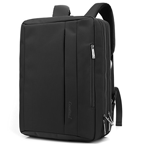 17 Messenger (CoolBELL17,3 Zoll umwandelbar Laptop Tasche / Rucksack Messenger Bag Oxford Gewebe Umhängetasche Backpack Mehrzweck Aktentasche für Laptop / Macbook / Tablet / Herren / Damen(Schwarz))