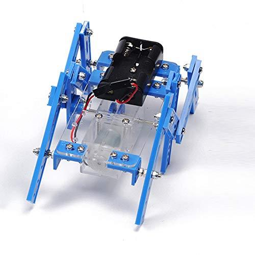 Goldyqin Metallo in Alluminio Hexapod Robot Spider Sei Piedi Telaio robotico / Kit Telaio per Telecomando Modello Genitore-Bambino Giocattoli interattivi - Blu