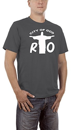 Touchlines Unisex/Herren T-Shirt Rio - City of God, Darkgrey, XXL