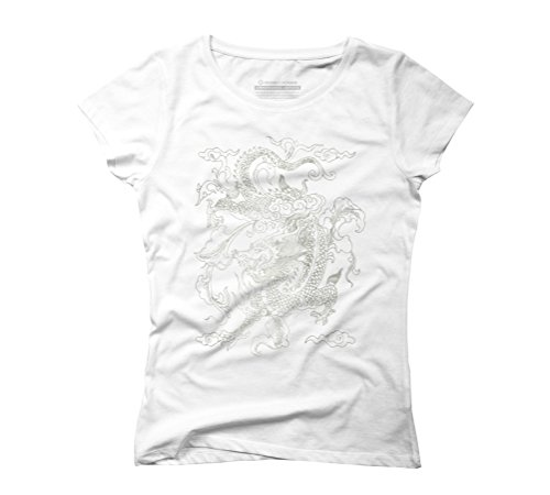 Vintage Chinese Dragon Batik Women's Graphic T-Shirt - Design By Humans White