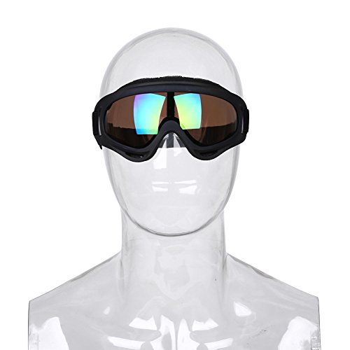 Forfar Beautyrain 1 PCS Casques lunettes de soleil Lunettes coupe vent Lunettes de mode anti brouillard Protection UV antipoussière Pour homme femm