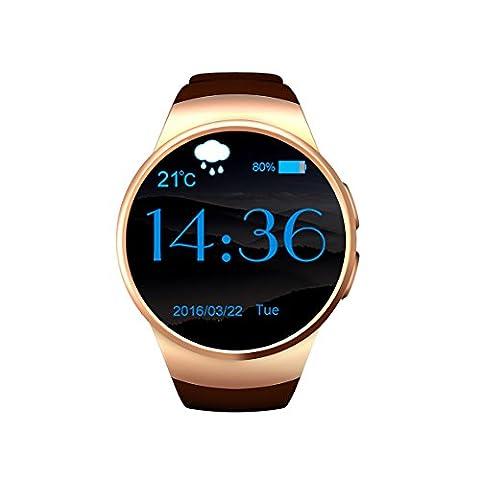Wasserdicht Intelligente Handy Uhr Smartwatch mit Freihändige Anrufe/ Heart Rate Monitor/ Remote-Kamera/ Touch Screen/ Unterstützungs-TF / SIM-Karte, Fitness Smart Watch Für Smartphones mit IOS und Android