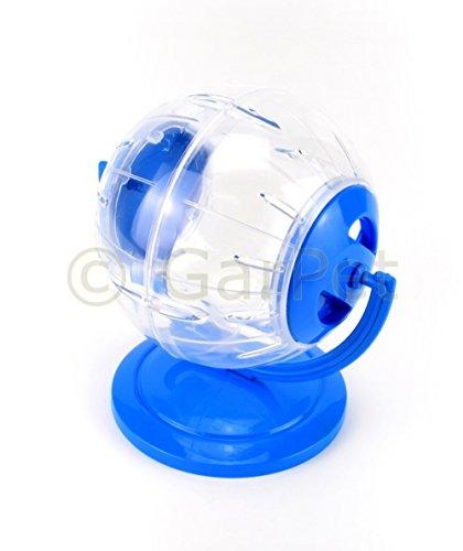 Hamsterball Ständer Joggingball Laufball Laufkugel Laufrad Hamster Ball Kugel (Klein, blau)