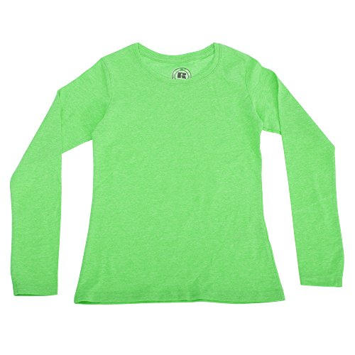 Russel Mädchen Langarm HD T-Shirt (5-6 Jahre (116)) (Grün Marl) (Langarm-t-shirt 69)