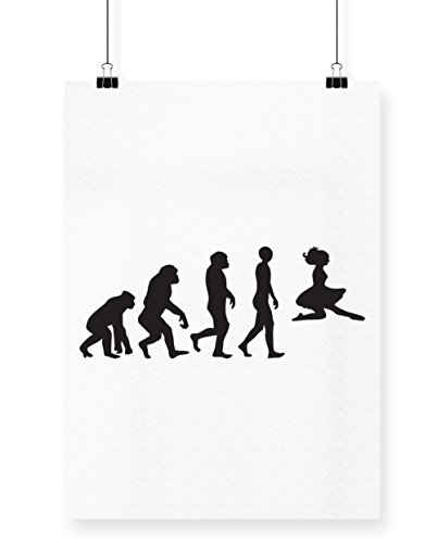 hippowarehouse Irish Dancer Evolution Poster Druck Wall Art Design A3 weiß (Riverdance Kostüm)