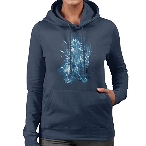 Super Saiyan Blue Dragonball Z Women's Hooded Sweatshirt Navy Blue