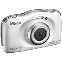 Nikon Digitalkamera Coolpix W100 kompakt, 13,2 Megapixel, 3 Zoll LCD-Monitor, Full HD, Weiß.