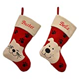 Luxury Deluxe Personalised Embroidered Christmas Stocking Pet, Cat & Dog (Dog)