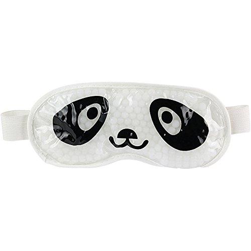 La Chaise Longue 38-1S-010 Masque Yeux relaxant et dynamisant Panda Blanc et noir Traitement chaud ou froid anti-cernes anti-rides cryo-relaxation