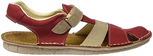 ElNaturalistaKids E286, Sandales mixte enfant Rouge (Tibet Piedra)