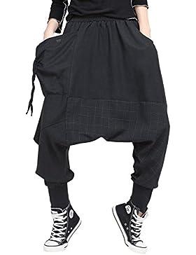 Pureed Pantaloni Harem Primaverile Donna Libero Pantaloni Con Bendarechic Elastica Baggy Tempo Monocromo Autunno...