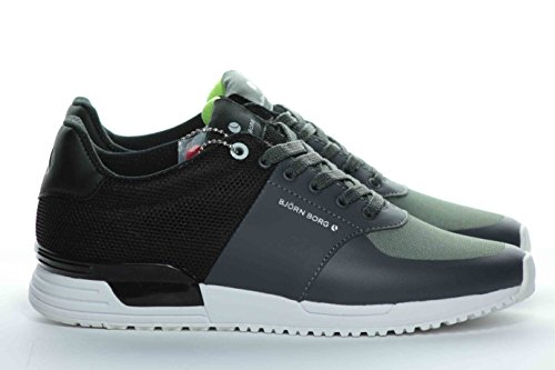 BJORN BORG Herren Sneaker, schwarz - schwarz - Größe: 43 EU (Borg Schuhe)