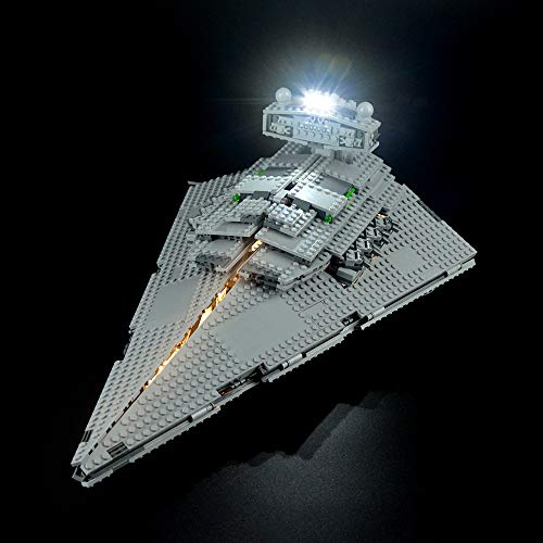 LIGHTAILING Conjunto de Luces (Star Wars Imperial Star Destroyer) Modelo de Construcción de Bloques - Kit de luz LED Compatible con Lego 75055 (NO Incluido en el Modelo)