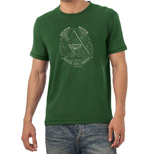 TEXLAB - Triforce Illuminati - Herren T-Shirt, Größe S, flaschengrün