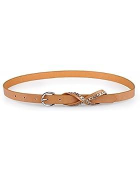 Cadena De Metal De Moda/Señora Hebilla Cinturón De Cuero/Cinturón Decorativo Salvaje