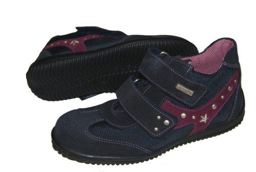 Däumling Kinderschuh, Mädchen Schuhe, Lederschuhe, Sympatex blau (Turino ozean)