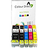 Colour Direct - 1 Ensemble ( 5 Inks ) - Compatible 33XL Cartouches d'encre Remplacement Pour Epson XP-530 XP-540 XP-630 XP-635 XP-640 XP-645 XP-830 XP-900 Imprimantes. Replaces Orange series . 1 X 3351 1 X 3361 1 X 3362 1 X 3363 1 X 3364
