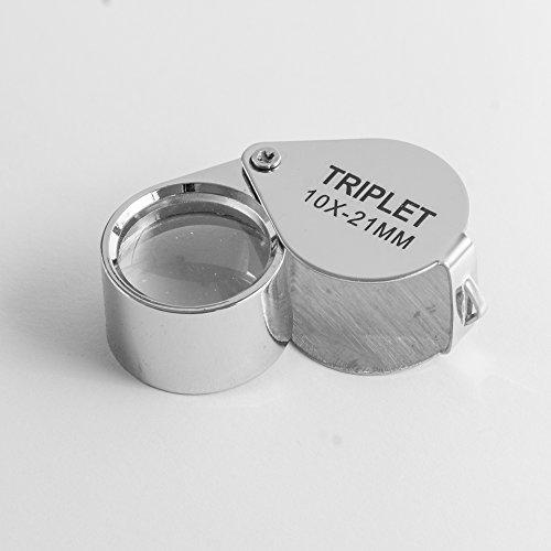 TRIPLET 10 fach Juwelier Lupe Uhrmacherlupe
