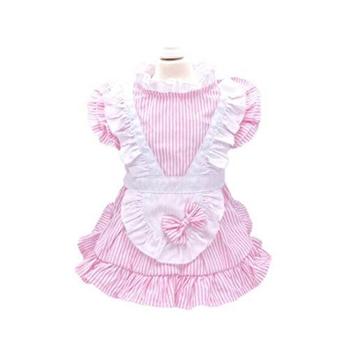Pink Kostüm Panda - ZHANGXLMM Minuet Hund Hund Kleidung Frühling Und Sommer VIP Teddy Hund Als Panda Kostüm Pulver Rock Prinzessin,Pink