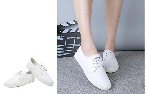 ALUK- Printemps et automne occasionnels chaussures version coréenne de chaussures décontractées étudiant sauvage ( couleur : Blanc , taille : 38 ) Blanc