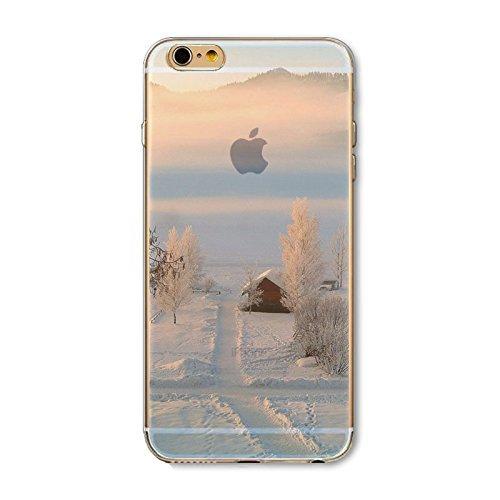 Coque iPhone 7 Plus Housse étui-Case Transparent Liquid Crystal en TPU Silicone Clair,Protection Ultra Mince Premium,Coque Prime pour iPhone 7 Plus-Paysage-style 9 5