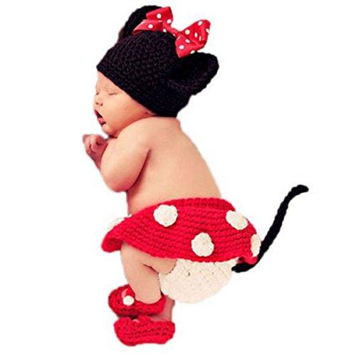 Jastore®mickey mouse bonita Disfraces Para Bebé fotografía Infantil Bebé recién nacido Ganchillo Beanie
