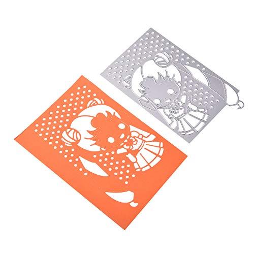 berrose stanzformen, Blume Herz Metall Schneiden prägestempel schablonen- Stahl Kit für DIY einladung Scrapbook Album Handwerk- schablonen Scrapbooking papierkarte