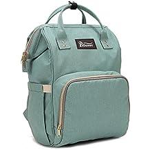 Bolso de la mamá Bolsa de pañales Bolsa para bebé de gran capacidad Mochila de viaje