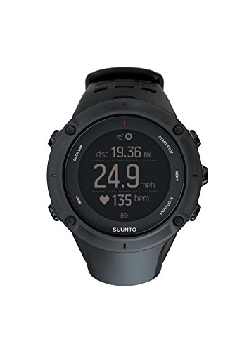 Suunto Men's Ambit3 50mm Black Rubber Band Steel Case Quartz Digital Watch SS020677000