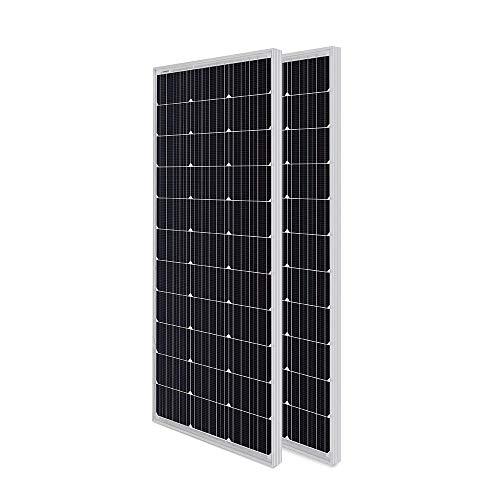 RENOGY 100Wx2 12 Volt (schlankes Design) Solarmodul Monokristallin Solarpanel Photovoltaik Solarzelle Ideal zum Aufladen von 12V Batterien Wohnmobil Garten Camper Boot