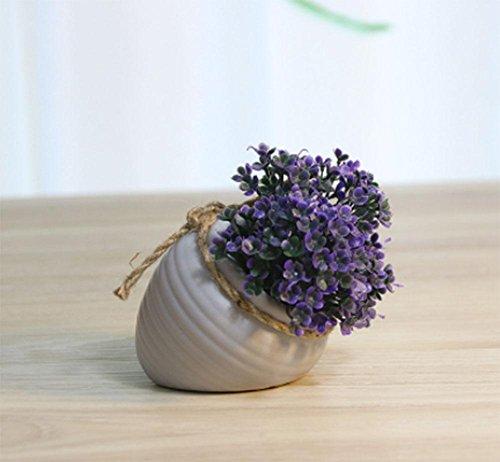 sche kreative Topfpflanzen Blumen Wohnzimmer Möbel gefälschte Gras dekorative Blumen Zimmerpflanzen Simulation Blumendekoration, 6 ()
