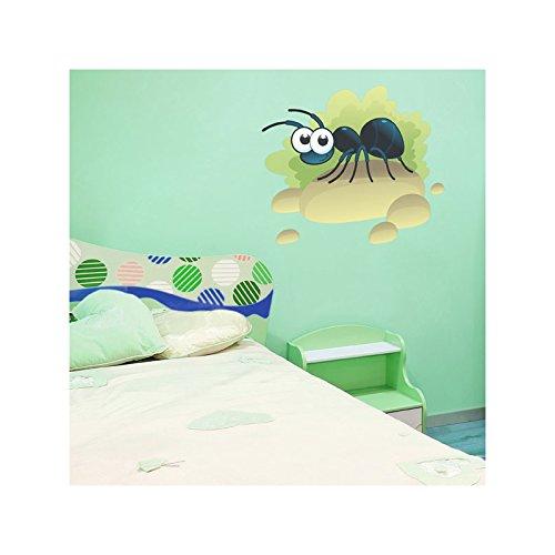 JUJU & COMPAGNIE - Sticker La fourmi Orientation - 01-Normal, Dimensions - 80 x 62 cm