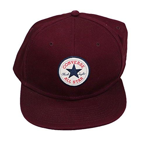 Core Twill Snapback Cap Converse casquette hip hop casquette (taille unique - rouge)