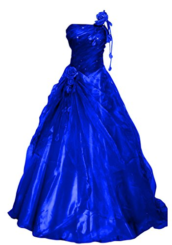 Romantic-Fashion Damen Ballkleid Abendkleid Brautkleid Lang Modell E234 A-Linie Blüten Perlen...