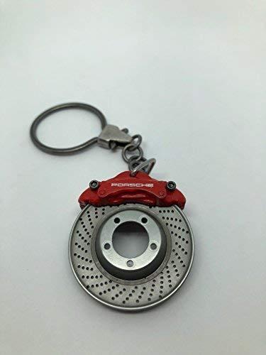 Porsche Schlüsselanhänger Bremsscheibe Rot mit Original Logo Original Design Sportlich