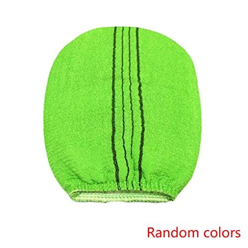 Timlatte Exfoliating Dusche Fäustling Bad scheuern Handschuh Bade Scrubber Haut Bürstemassager-Luffa zufällige Farbe -