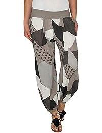 Sylar Pantalones Deportivas Mujer Moda Impresión Geométrica Simple Suelto  Cintura Elástica Pantalones Casuales Pantalones De Pierna a99f9c7d4a66