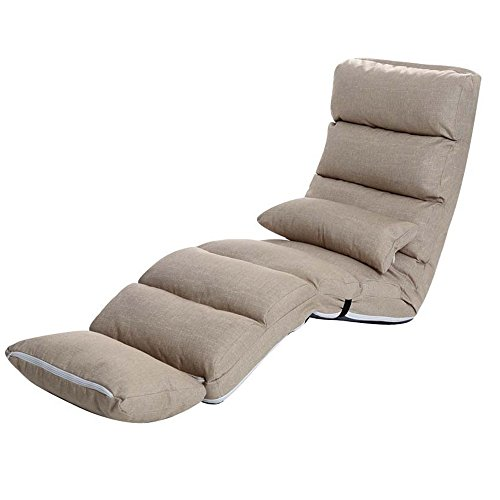LiuJianQin Schaukelstuhl ZXQZ Recliners Home Sofa Lounge Stuhl Schlafzimmer Klappstuhl Portable Chaise Lounge Wohnzimmer Liegestühle (Farbe : Beige, Größe : 2#)