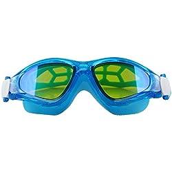 Lunettes de plongée Les lunettes de natation d'anti-brouillard de grand cadre HD plaquent les lunettes de natation imperméables adultes lunettes de natation de chapeau de natation pour adultes ou enfa