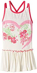 Nauti Nati Girls Dress Suit (NSS15-239_Ecru and Pink_5 - 6 years)