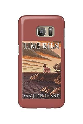 San Juan Island, Washington - Lime Kiln Lighthouse (Galaxy S7 Cell Phone Case, Slim Barely There)
