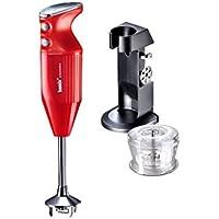 bamix Deluxe Manual Robot Cocina, 180 W - Rojo, 180W
