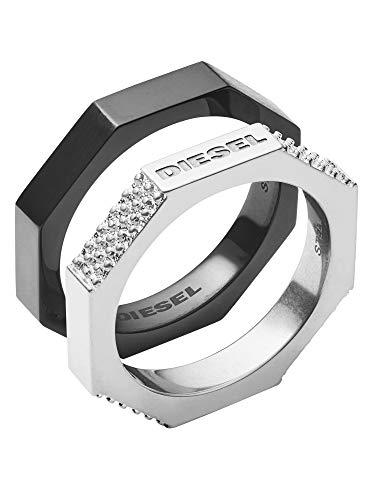 Diesel Herren-Stapelring Edelstahl mit \'- Ringgröße 59 DX1158040-9