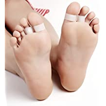 Anillo de silicona para adelgazar la dieta, doble puntera, pérdida de peso, adelgazamiento del dedo del pie
