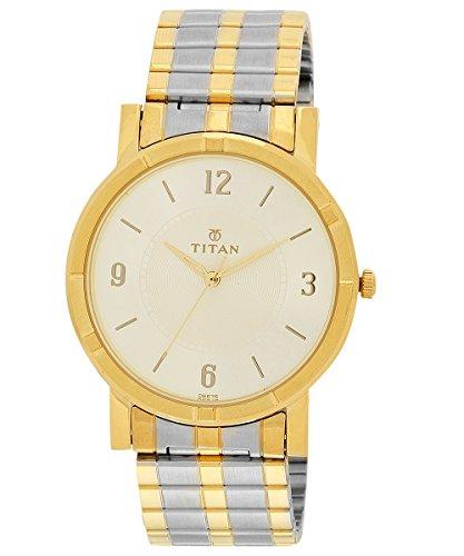 412AiX ujhL - Titan 1639BM01 Formal Silver Men watch