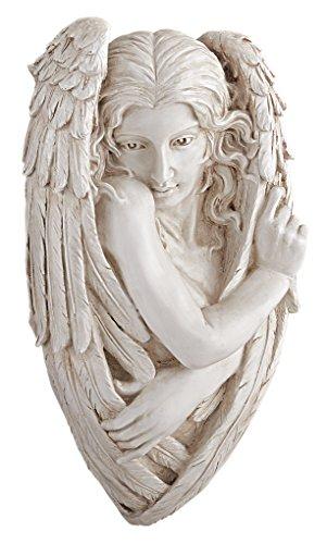 Design Toscano Tristan, der scheue Engel, Wandfigur