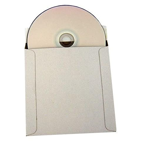 100 CD/DVD White Cardboard Mailers, Self Seal Mailers with
