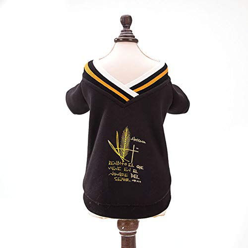 (Xiton Welpen-Kleidung Mode Haustier Hund Katze Fleece Pullover Winter warm Sweatshirt Hemd Hündchen-Mantel -L)