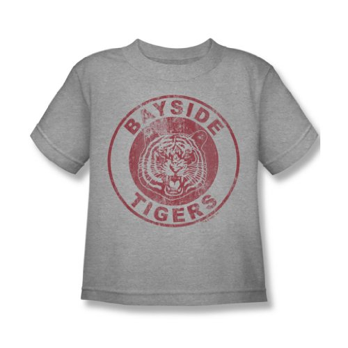 Nbc - Bayside Tigers Distressed Juvy T-Shirt in Heather, 4, Heather (Heather T-shirt Juvy)