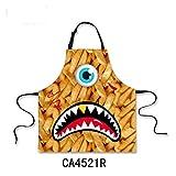 ZXXWQ Friseur Schürze Küche Schürzen Für Frau Candy Bunte One Eye Big Mouth Print Design Männer Chef Cooking BBQ
